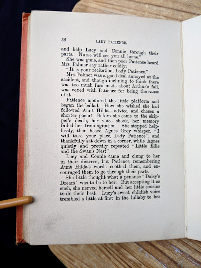 page 38 inside an undated copy of Lady Patience - A Story for Girls by F.S. Hollings - Blackie and Sons Limited