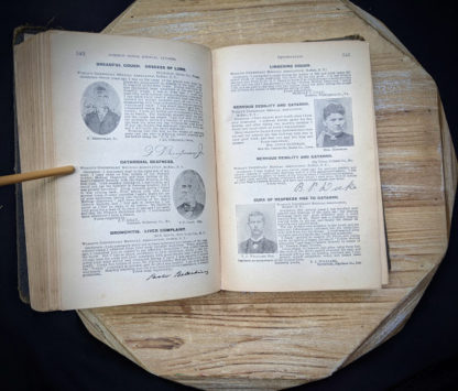 pages inside a 1895 copy of The Peoples Common Sense Medical Adviser by R.V. Pierce M.D.