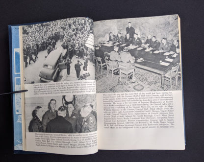 photographs inside a 1946 copy of My Three Years With Eisenhower By Harry C Butcher