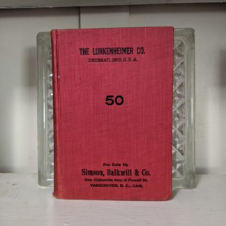 1912 The Lunkenheimer Company Catalogue Number 50