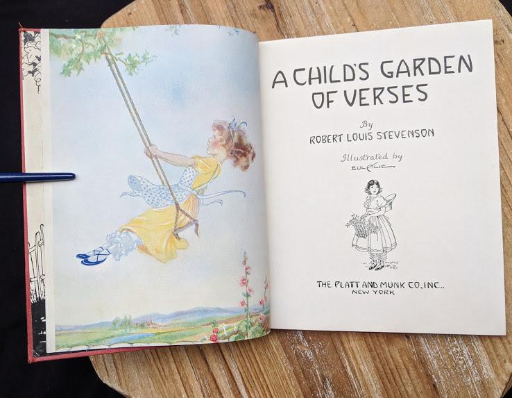 1932 A Childs Garden of Verses by Robert Louis Stevenson - popular edition