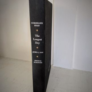 1959 copy of The Longest Day June 6 1944 by Cornelius Ryan - Simon & Schuster - spine view