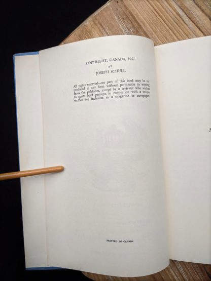 Copyright page inside a 1960 copy of The Salt Water Men - Canadas Deep Sea Sailors by Joseph Schull