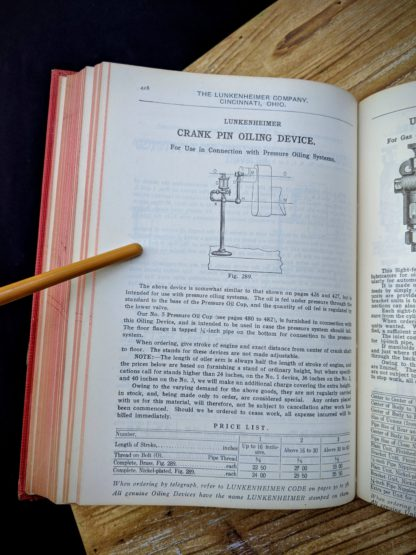 Crank Pin Oiling Device - 1912 Lunkenheimer Co Illustrated Catalogue and Price List catalogue 50