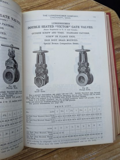 Double Seated Victor Gate Valves - 1912 Lunkenheimer Co Illustrated Catalogue and Price List catalogue 50