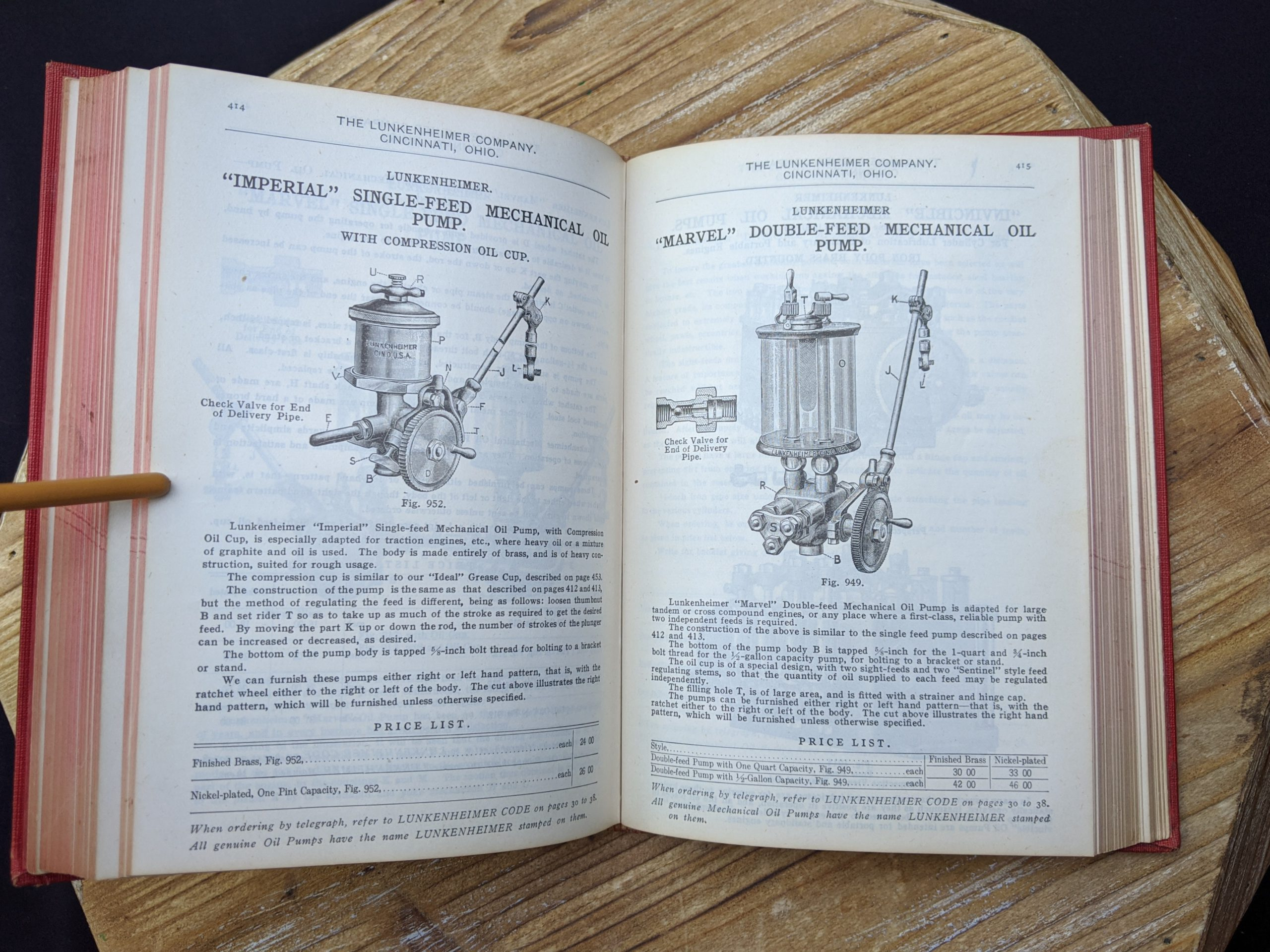 Double and Single Feed Mechanical Oil Valves - 1912 Lunkenheimer Co Illustrated Catalogue and Price List catalogue 50