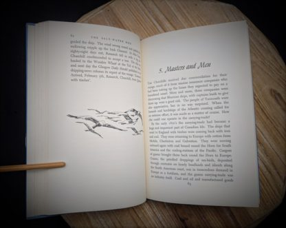 Masters and Men - Chapter 5 inside a 1960 copy of The Salt Water Men - Canadas Deep Sea Sailors by Joseph Schull