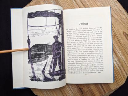 Prologue inside a 1960 copy of The Salt Water Men - Canadas Deep Sea Sailors by Joseph Schull