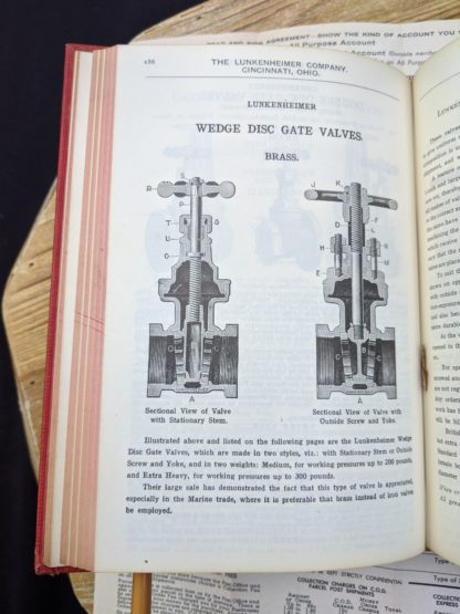 Wedge Disc Gate Valves - 1912 Lunkenheimer Co Illustrated Catalogue and Price List catalogue 50