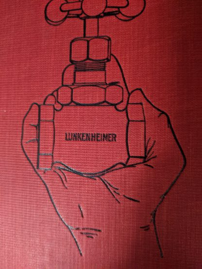 backcover up close on a 1912 copy of The Lunkenheimer Company Catalogue Number 50