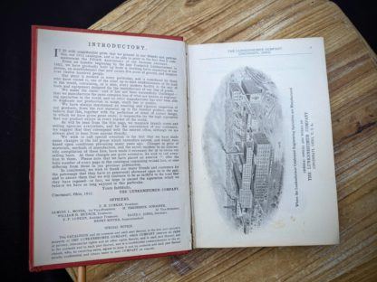 introductory page -The Lunkenheimer Company Catalogue Number 50, dated 1912