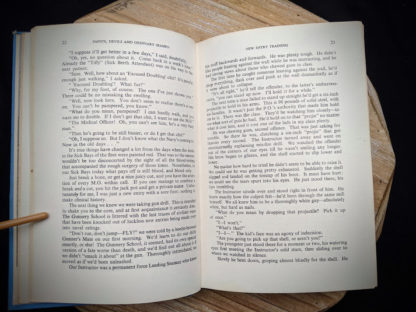pages inside a 1946 copy of Saints Devils and Ordinary Seamen Life on the Royal Canadian Navys Lower Deck - second printing