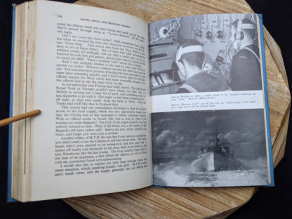 photographs inside a 1946 copy of Saints Devils and Ordinary Seamen Life on the Royal Canadian Navys Lower Deck - second printing