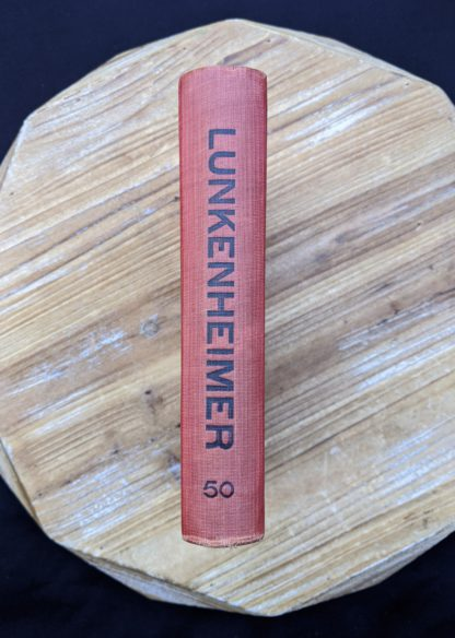 spine view - 1912 copy of The Lunkenheimer Company Catalogue Number 50