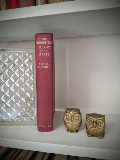 1930 copy of The Philosophical Theory of the State by Bernard Bosanquet - signed by H. S. Harris