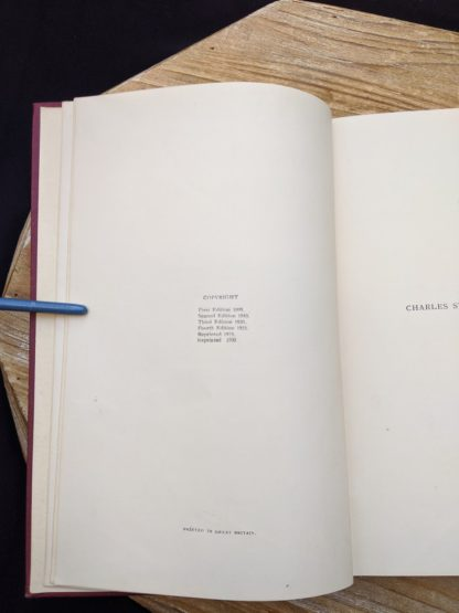 Copyright page inside a 1930 copy of The Philosophical Theory of the State by Bernard Bosanquet