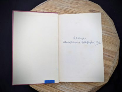 Front pastedown and endpaper with Signature from H.S Harris inside a 1930 copy of The Philosophical Theory of the State by Bernard Bosanquet