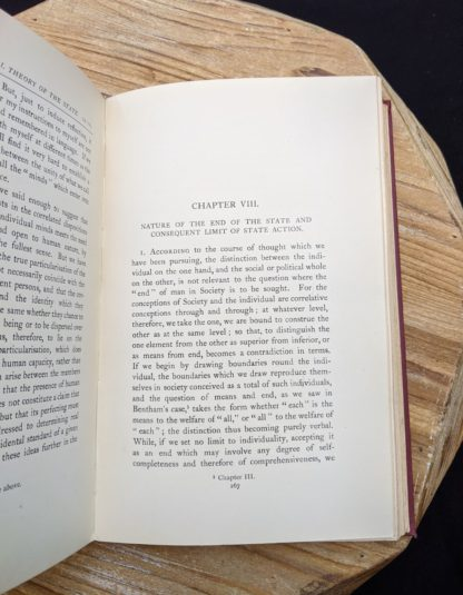 Nature of the end of the State and Consequent Limit of the State Action - 1930 copy of The Philosophical Theory of the State by Bernard Bosanquet