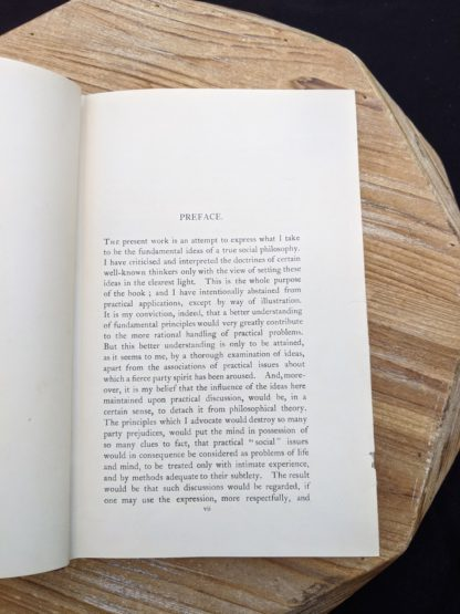 Preface page - 1930 copy of The Philosophical Theory of the State by Bernard Bosanquet