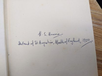Signature of H. S. Harris up close inside a 1930 copy of The Philosophical Theory of the State by Bernard Bosanquet