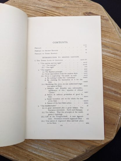 Table of Contents image 1 of 4 - 1930 copy of The Philosophical Theory of the State by Bernard Bosanquet