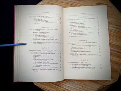 Table of Contents image 2 of 4 - 1930 copy of The Philosophical Theory of the State by Bernard Bosanquet