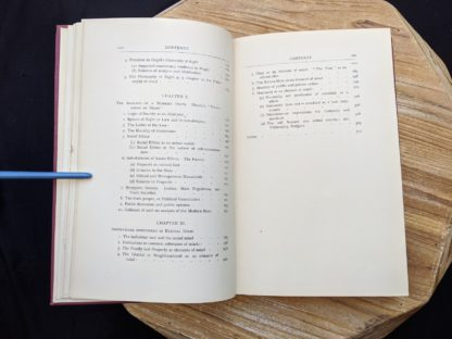 Table of Contents image 4 of 4 - 1930 copy of The Philosophical Theory of the State by Bernard Bosanquet