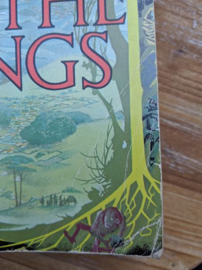 creases on bottom corner of title page on a 1975 copy of The Lord of the Rings J. R.R. Tolkien fifteenth impression - uncommon copy