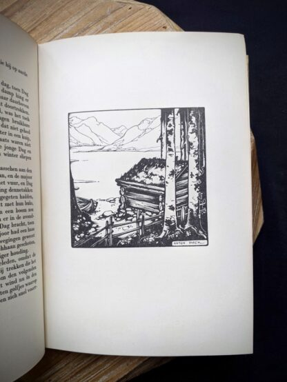 1935 De Weg tot Elkander by Trygve Gulbranssen -illustration page- third book of the trilogy - First Edition
