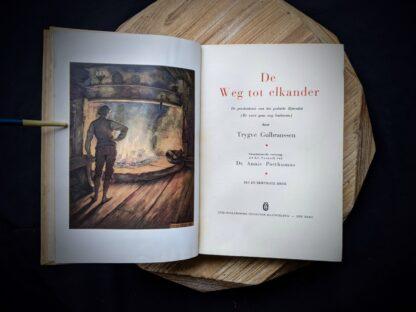 1935 De Weg tot Elkander by Trygve Gulbranssen - title page- third book of the trilogy - First Edition