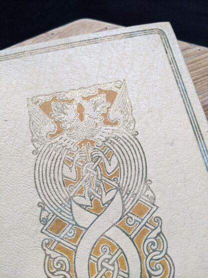 Blindstamp on a 1935 copy of De Weg tot Elkander by Trygve Gulbranssen - third book of the trilogy - First Edition