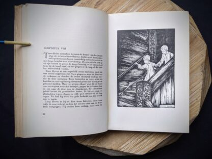 illustration inside a 1935 copy of De Weg tot Elkander by Trygve Gulbranssen - third book of the trilogy - First Edition