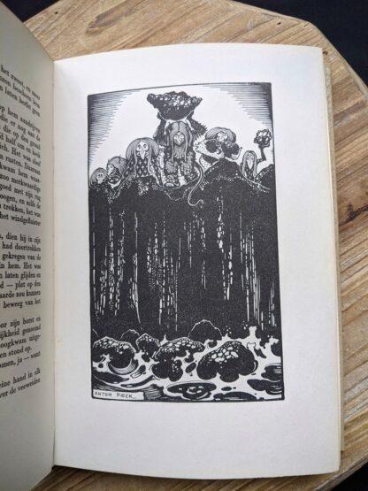 illustration page- 1935 De Weg tot Elkander by Trygve Gulbranssen - third book of the trilogy - First Edition