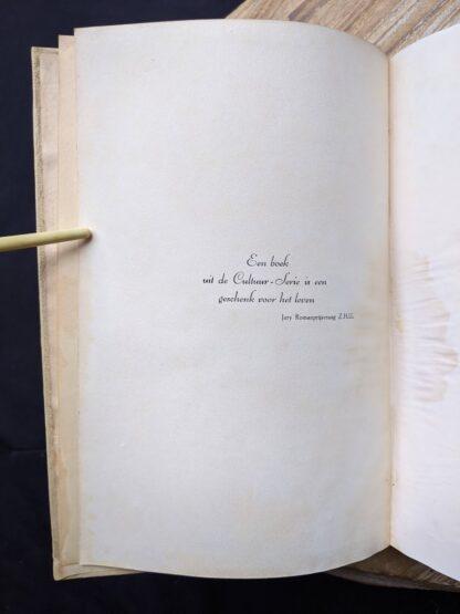 quote inside a 1935 copy of De Weg tot Elkander by Trygve Gulbranssen - third book of the trilogy - First Edition