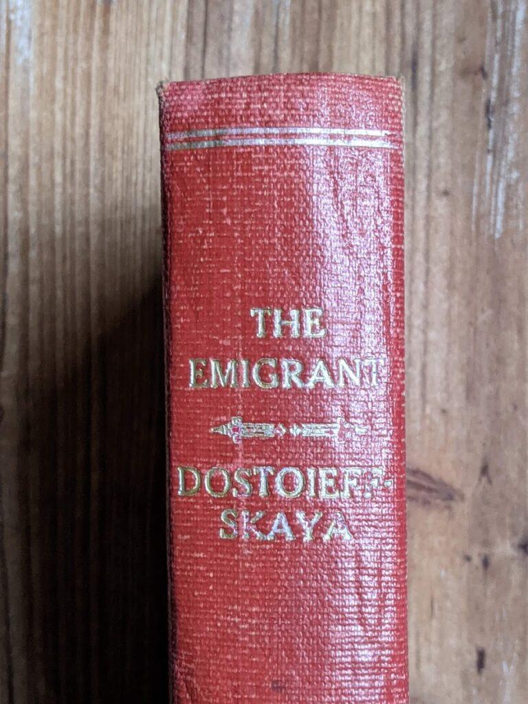 1916 The Emigrant by Dostoieff Skaya - head of spine