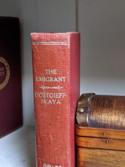 1916 The Emigrant by Dostoieff Skaya - head of spine view