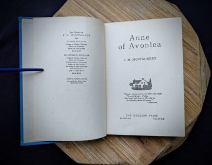 1947 Anne of Avonlea by Montgomery - Title page