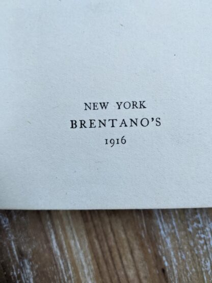 Publishing into inside an uncommon 1916 copy of The Emigrant by Dostoieff Skaya