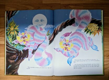 illustration of the Cheshire cat - 1985 Alice in Wonderland - Ottenheimer Publishers - Printed in Italy