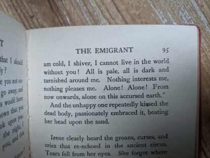 page 95 inside a 1916 copy of The Emigrant by Dostoieff Skaya