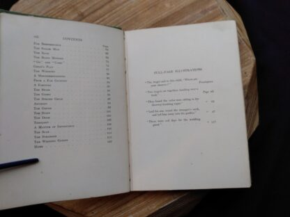 Contents page 2 of 2 and list of illustrations inside a 1903 First edition copy of The Golden Windows - A Book Of Fables For Young And Old