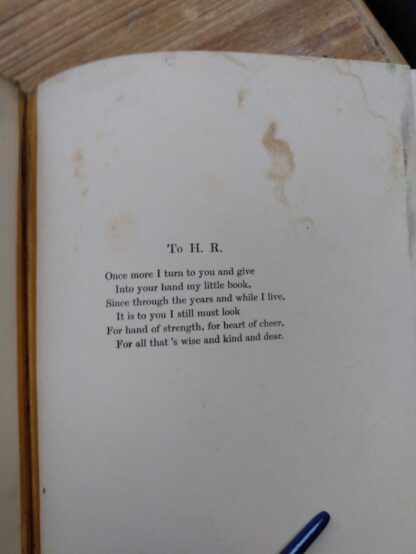Dedication inside a 1903 First edition copy of The Golden Windows - A Book Of Fables For Young And Old