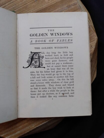 Golden Windows fable inside a 1903 First edition copy of The Golden Windows - A Book Of Fables For Young And Old
