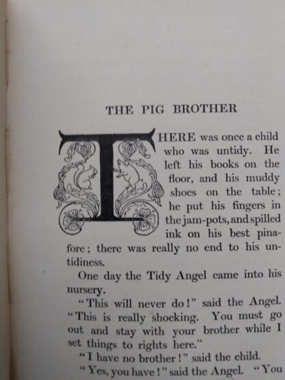 The Pig Brother fable inside a 1903 First edition copy of The Golden Windows - A Book Of Fables For Young And Old