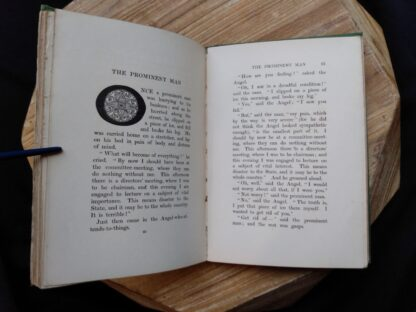 The Prominent Man fable inside a 1903 First edition copy of The Golden Windows - A Book Of Fables For Young And Old