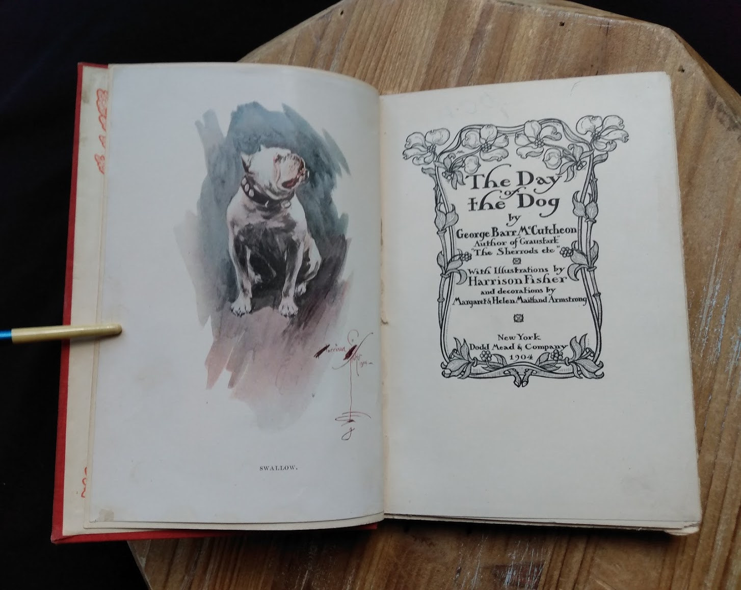 1904 copy of The Day of the Dog by George Barr McCutcheon - First Edition