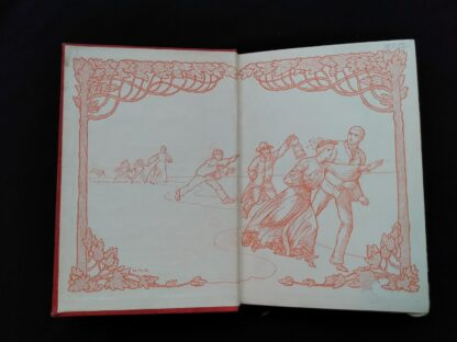 Front pastedown and endpaper inside a 1904 The Day of the Dog by George Barr McCutcheon - First Edition