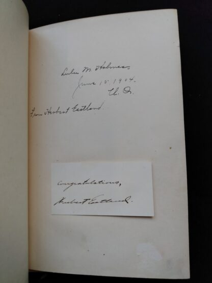 previous owner written inside a 1904 copy of The Day of the Dog by George Barr McCutcheon - First Edition