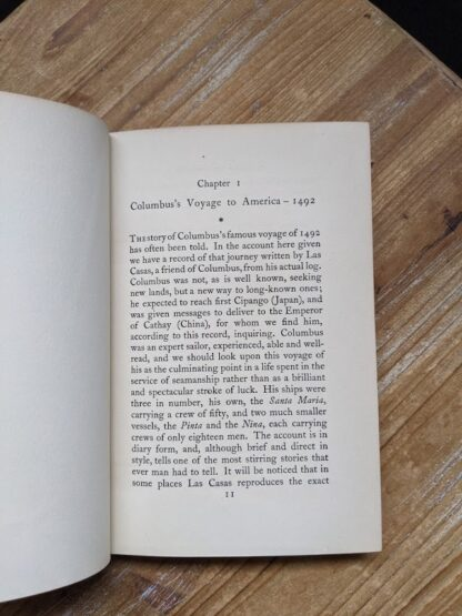 Chapter 1 inside a 1929 A Book of Seamen by F. H. Doughty - First Edition