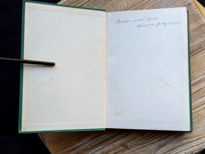 Front pastedown and endpaper inside a 1939 copy of Wild Flowers of the Northern States and Canada by Arthur Craig Quick - First Edition